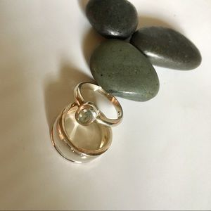 Like new set of 2Sterling silver rings